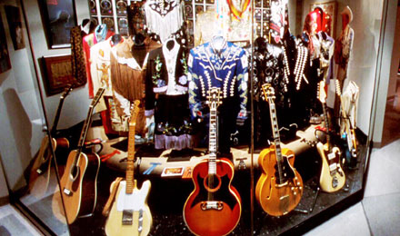 Guitars in Exhibit at  Country Music Hall of Fame
