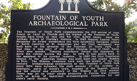 Fountain of Youth Information Board
