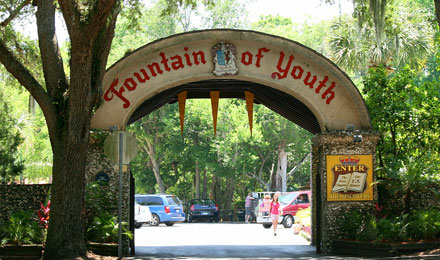 Entrance to Fountain of Youth, St. Augustine, FL