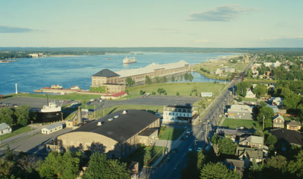 A View of Sault Sainte Marie, MI