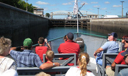 Tour the Soo Locks in Sault Sainte Marie