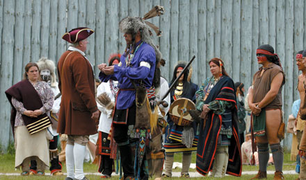 A Reenactment at Colonial Michilimackinac