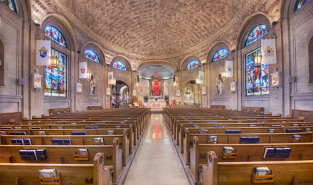Inside the St Lawrence Basilica
