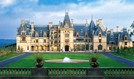 A View of the Biltmore House in Asheville NC