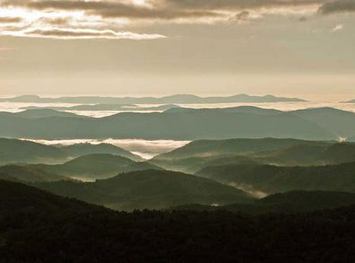 Mountain Views in the Blue Ridge Parkway