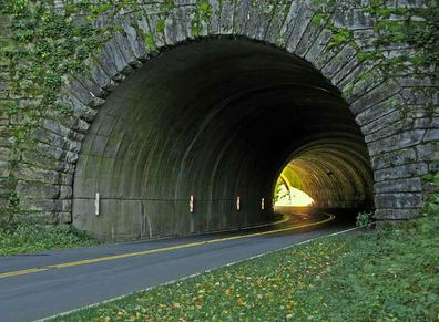 A Tunnel along the Blue Ridge Parkway in NC