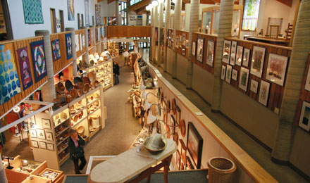 Inside the Folk Art Center