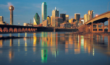 Dallas Skyline reflected in Water