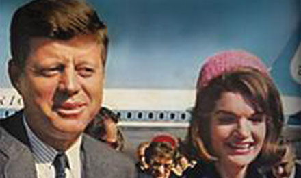 John F. Kennedy and Wife Jacqueline Kennedy