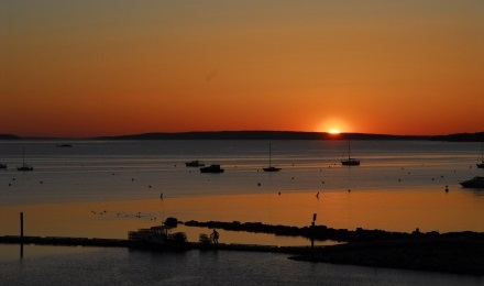 Evening Photo of Casco Bay
