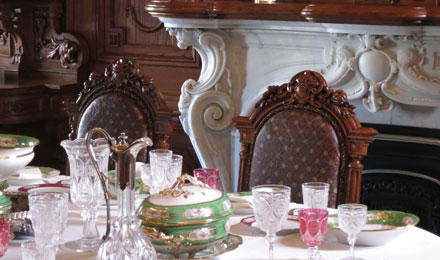 Dining Room inside Victoria Mansion
