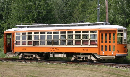 Picture of a Trolley at Seashore Trolley Museum