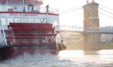 See Cincinnati from the Ohio River with a BB Riverboat Cruise