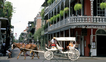 French Quarter in New Orleans, LA