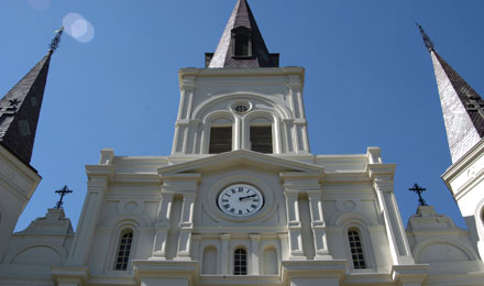 St. Louis Cathedral Clock in New Orleans, LA