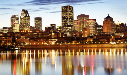 City Skyline in Montreal, Canada