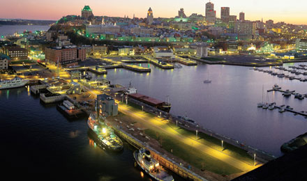 Port of Quebec Night View, Quebec City, Canada