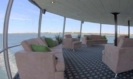 The lounge deck with panoramic windows