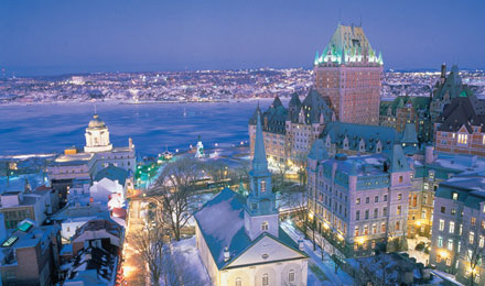 Beautiful Quebec City, Canada by Night