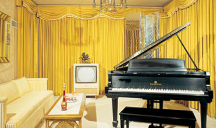 Black Grand Piano, Graceland, Memphis, TN