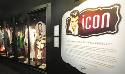 Exhibit at Graceland, Memphis, Tennessee